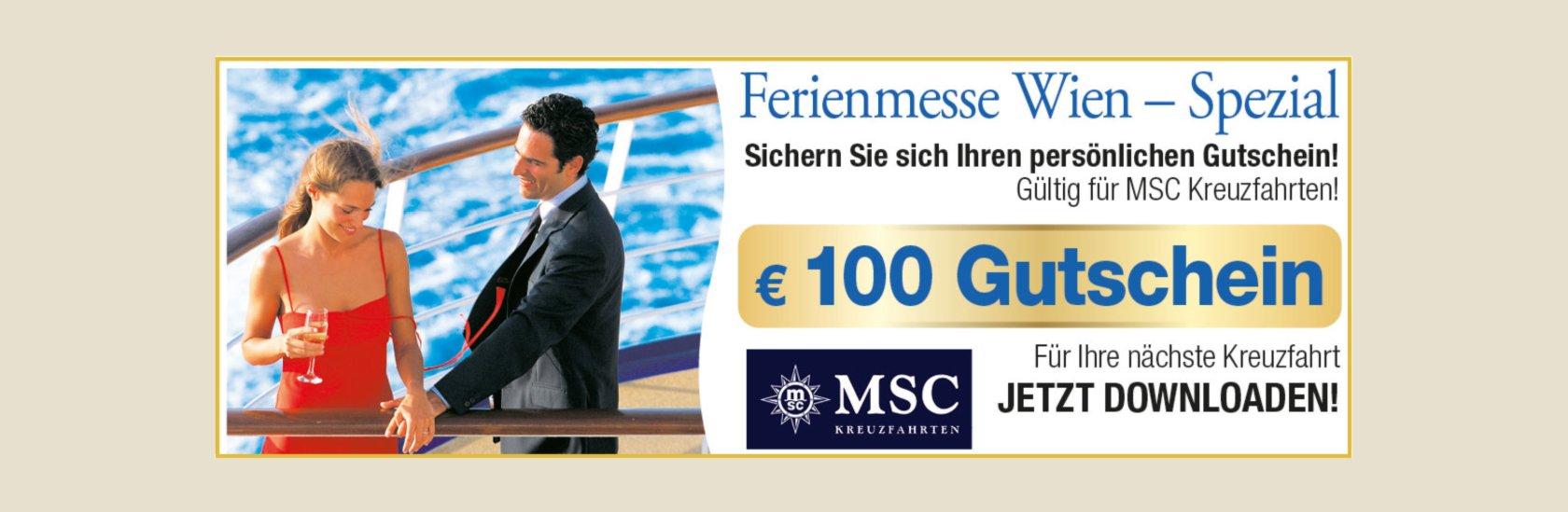 Messe Gutschein MSC Kreuzfahrten